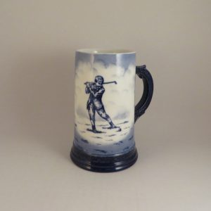Austrian / German Pottery Golf Stein 6″