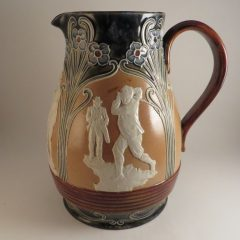 Doulton Lambeth Jug Golf Theme Bulbous 8.75″