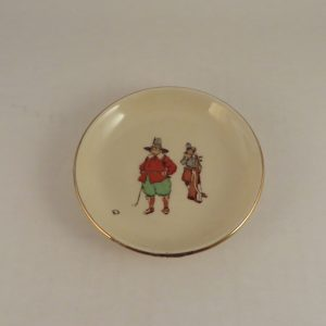 Royal Doulton Crombie Golf Pottery Pin Dish 4″
