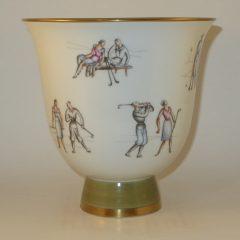 Richard Ginori Golf Vase by Gio Ponti  7.25″