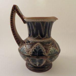 Doulton Lambeth Art Pottery Jug by Francis E Lee 1876 ~ 5″