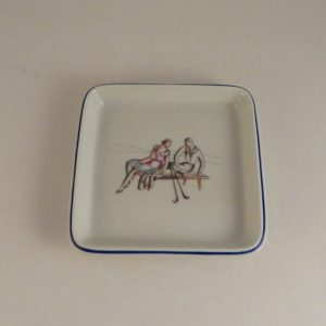 Gio Ponti for Richard Ginori Porcelain Golf Card Tray