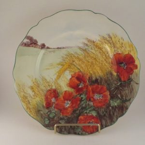 Royal Doulton Poppies Series Plate 10.25″