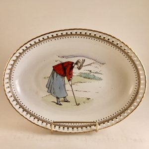 Minton ~ Apsley Pellatt & Co  Lady Golfer Reticulated Bowl
