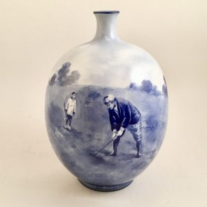 Doulton Burslem Golf Vase 7.25″