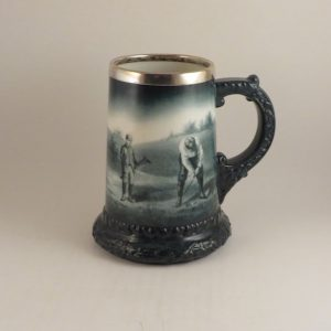 CAC Lenox Pottery Golfer Stein 5.6″