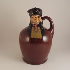 Royal Doulton Bill Sykes Kingsware Whiskey Flask 8″