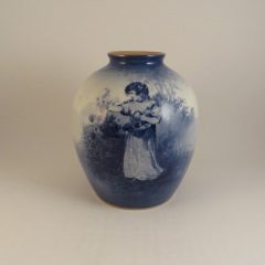 Royal Doulton Blue Children Series Vase 5.5″
