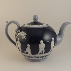 Copeland Spode Golf Teapot in Blue ~ Large  6″