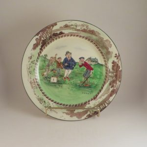 Late Foley Shelley Golf Plate 'Fore' 10″