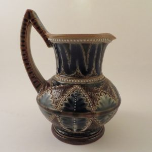 Doulton Lambeth Art Pottery Jug by Francis E Lee 1876 ~ 5″