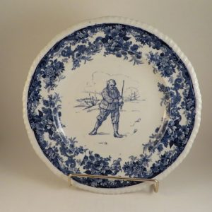 Mintons Pottery Golf Scene Rack Plate #3