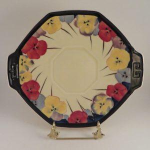 Royal Doulton Pansy Series cake plate 10″ x 9″