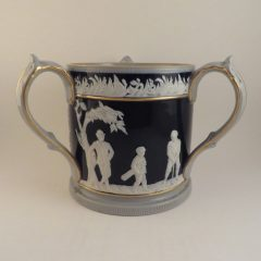Copeland Spode Pottery Blue Golf Tyg 5.5″