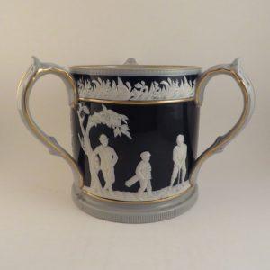 Copeland Spode Pottery Blue Golf Tyg 5.5″